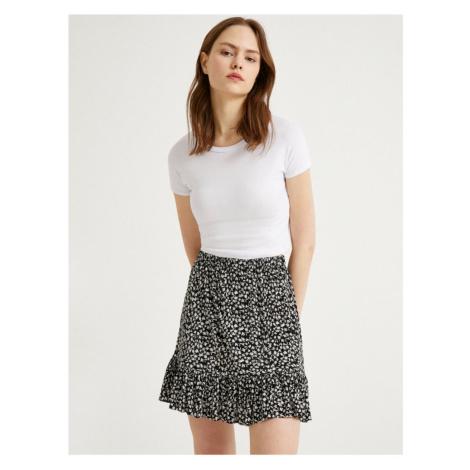 Koton Floral Mini Ruffle Skirt