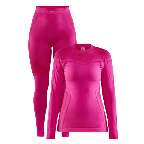 CRAFT Bielizna termoaktywna damska CORE DRY FUSEKNIT SET różowy-Różowy-XL