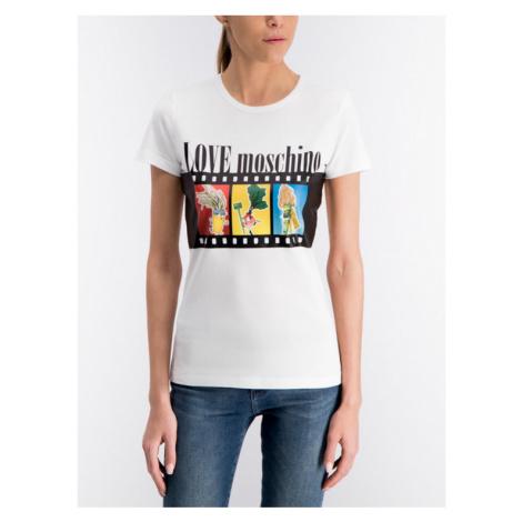 LOVE MOSCHINO T-Shirt W4F7347M 3517 Biały Regular Fit