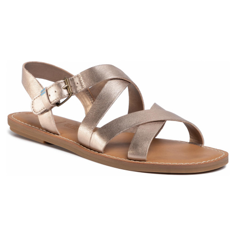 Sandały TOMS - Sicily 10015120 Rose Gold Metallic Leather