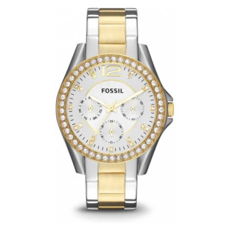 Fossil Zegarek Riley ES3204 Srebrny