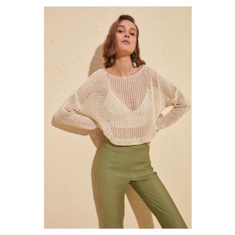 Trendyol Knitwear Sweater with Ecru Blinds