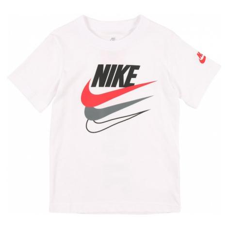 Nike Sportswear Koszulka biały / czarny / szary bazalt / grenadynowy