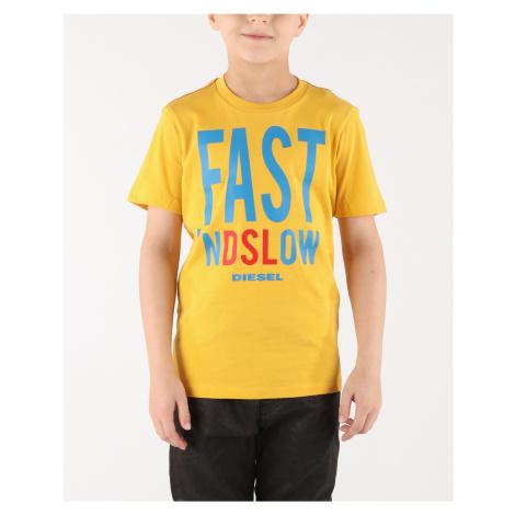 Diesel Trace Koszulka dziecięce Żółty
