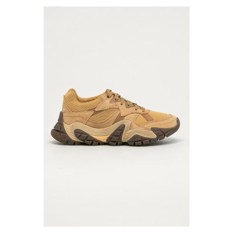 Brązowe damskie obuwie sneakers