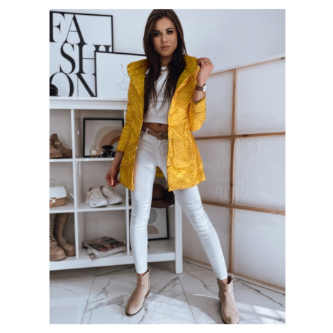 Double-sided quilted women's coat KATIE yellow TY1723 DStreet
