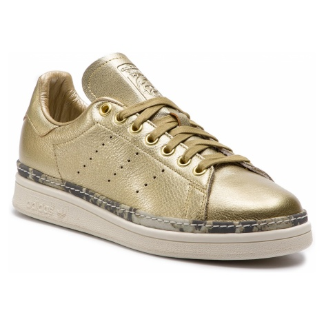 Buty adidas - Stan Smith New Bold W F34120 Goldmt/Goldmt/Owhite