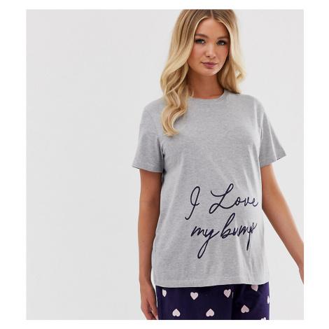 ASOS DESIGN Maternity exclusive love bump pyjama short set