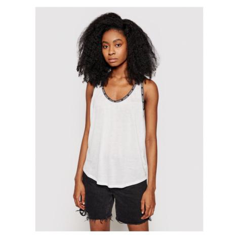 Calvin Klein Swimwear Top KW0KW01350 Biały Regular Fit
