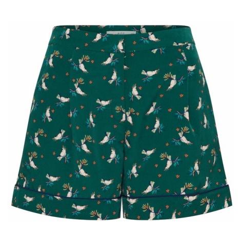 EDC BY ESPRIT Spodnie zielony / mieszane kolory