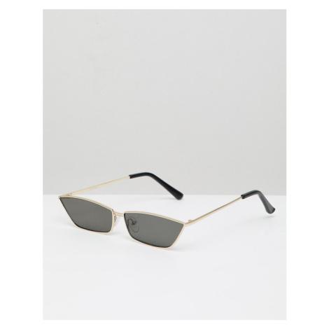 ASOS DESIGN Slim Cat rectangle Fashion Sunglasses