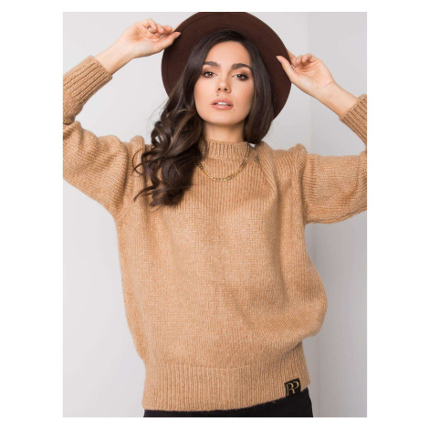 RUE PARIS Beżowy sweter oversized