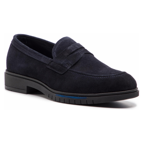 Półbuty TOMMY HILFIGER - Flexible Dressy Suede Loafer FM0FM02172 Midnight 403