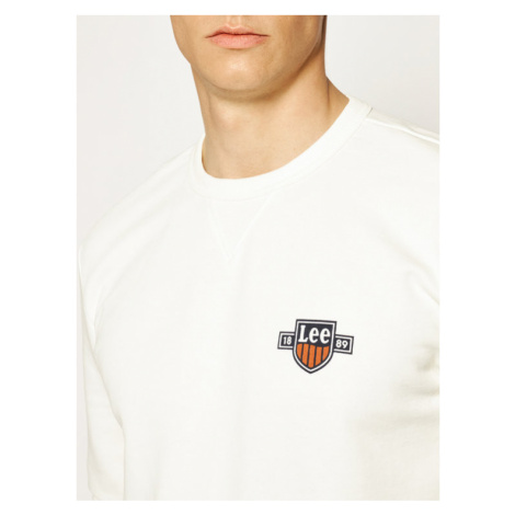 Lee Bluza Seasonal Logo Sws L81ASPRR Biały Regular Fit