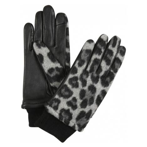 ONLY Rękawiczki pięciopalczaste 'LENA' czarny / szary