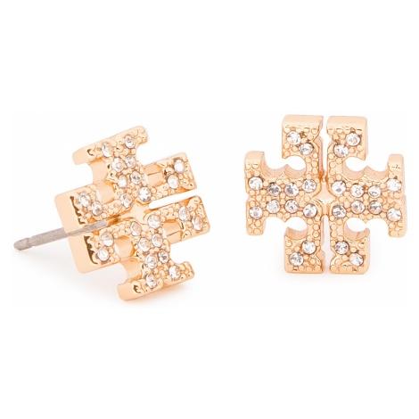 Kolczyki TORY BURCH - Crystal Logo Stud Earring 53423 Tory Gold/Crystal 783