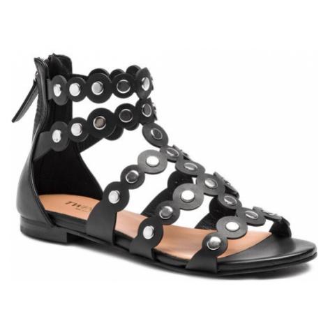 TwinSet Sandały Sandalo 191TCP04C Czarny