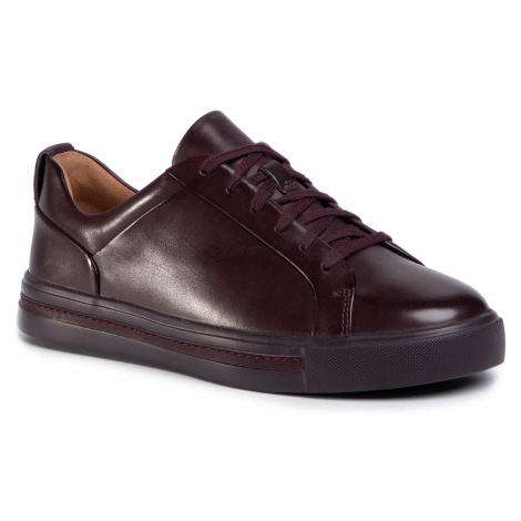 Sneakersy CLARKS - Un Maui Lace 261443444 Aubergine Leather