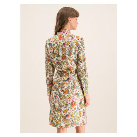 Tory Burch Sukienka koszulowa Contraste Binding 61896 Kolorowy Slim Fit