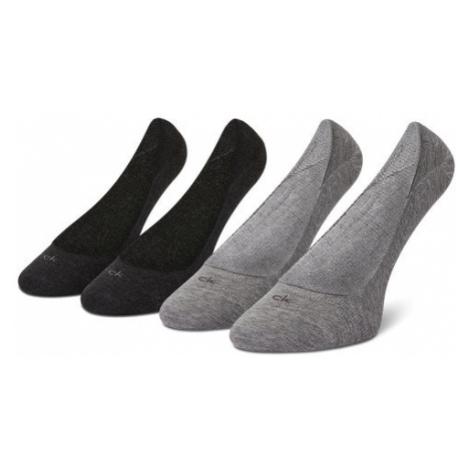 Calvin Klein Zestaw 2 par stopek damskich 100001798 Szary