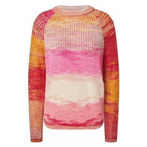Noisy may Sweter 'LEED' różowy pudrowy / czerwony / złoty