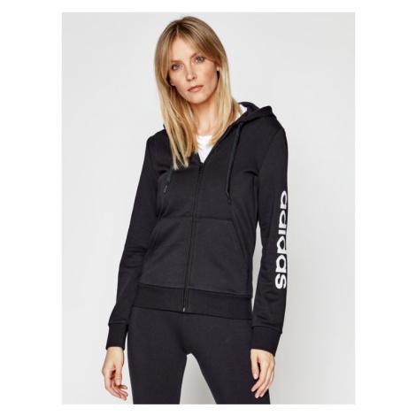 Adidas Bluza Essentials Linear DP2401 Czarny Slim Fit
