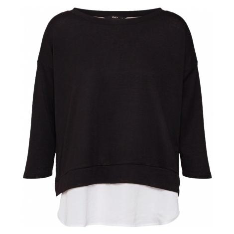 ONLY Sweter 'onlELLA 3/4 TOP JRS' czarny / biały