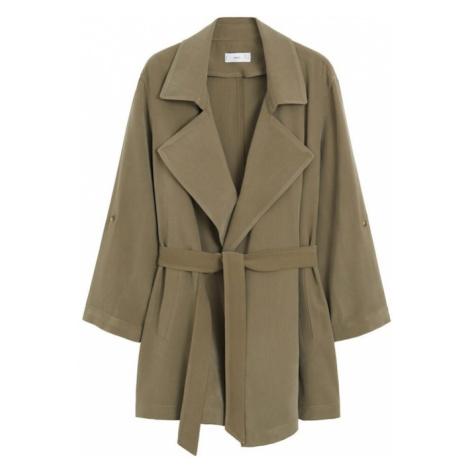 MANGO Płaszcz przejściowy 'Guardapo' khaki