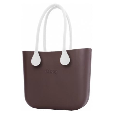 O bag torebka Chocolate z długimi białymi uchwytami ze skajki
