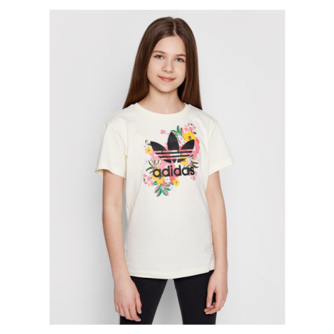Adidas T-Shirt HER Studio London Floral GN4216 Żółty Standard Fit