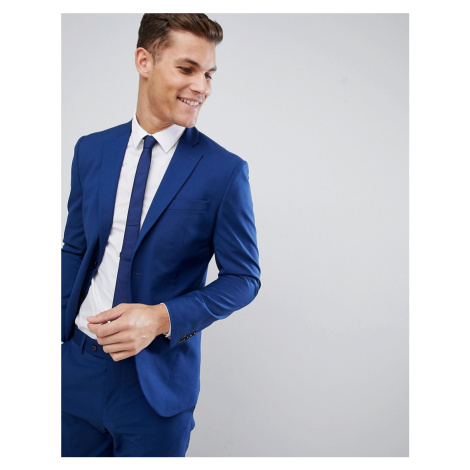Mango Man Slim Fit Suit Jacket In Navy