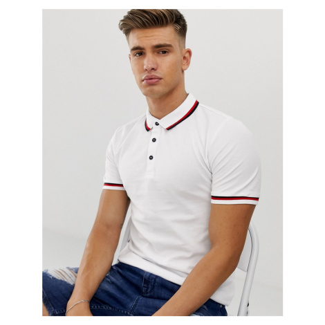 Only & Sons polo with tipped collar