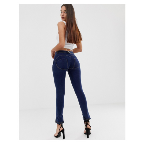 Freddy shaping effect midrise skinny jeans with embroidery detail