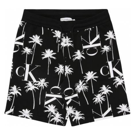 Calvin Klein Jeans Spodnie biały / czarny