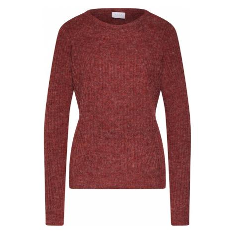 VILA Sweter 'LOWSA' czerwony
