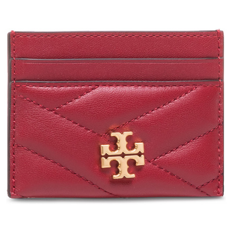 Etui na karty kredytowe TORY BURCH - Kira Chevron Card Case 56815 Redstone/Rolled Brass 609