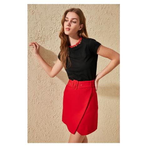 Trendyol Red Belt Detailed Skirt