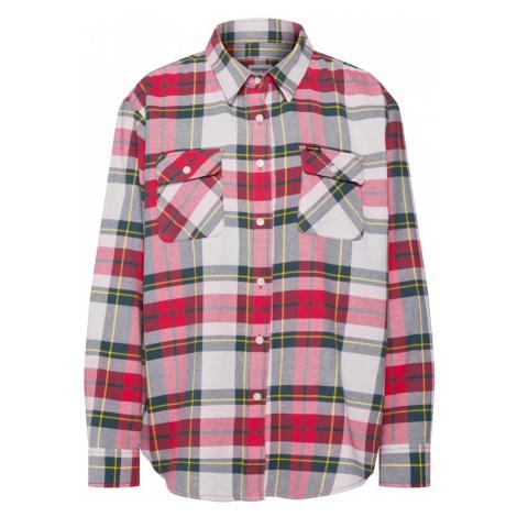 WRANGLER Bluzka 'NEW BOYFRIEND' czerwony / biały