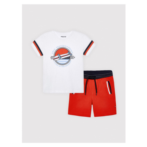 Mayoral Komplet t-shirt i spodenki 3644 Kolorowy Regular Fit