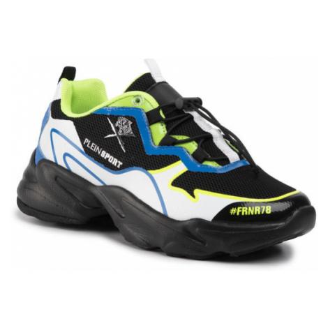 Plein Sport Sneakersy Runner Logos A19S MSC2423 STE003N Czarny