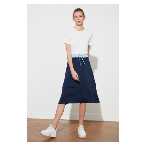 Trendyol Navy Blue Lacing Detailed Dress