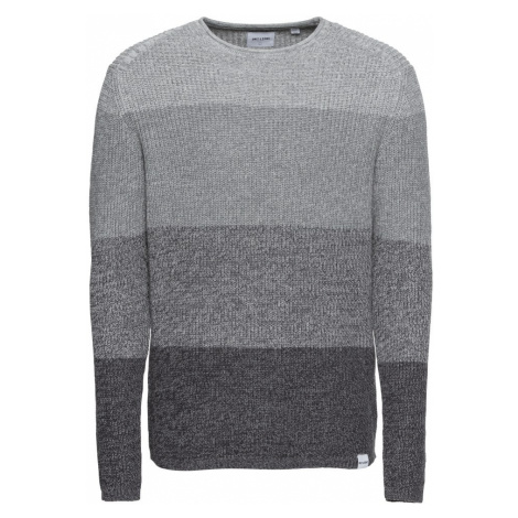 Only & Sons Sweter 'onsSATO MULTI CLR KNIT NOOS' szary / jasnoszary