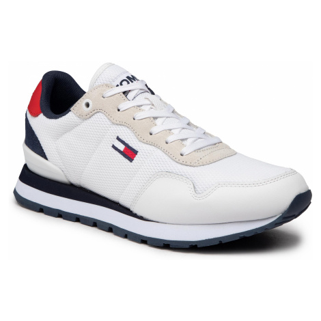 Sneakersy TOMMY JEANS - Lifestyle Mix Runner EM0EM00668 White YBR Tommy Hilfiger