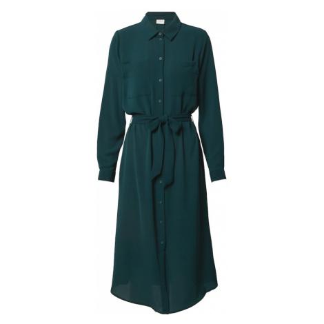 JACQUELINE de YONG Sukienka koszulowa ciemnozielony