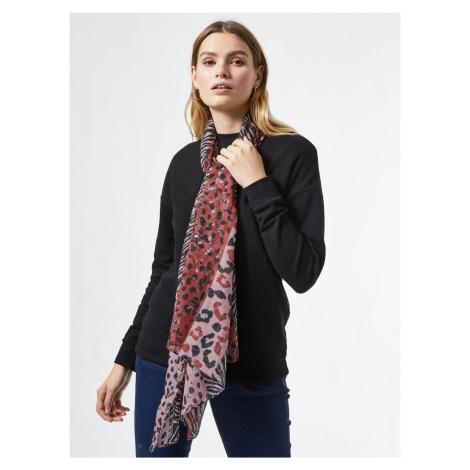 Różowy wzorzysty szalik Dorothy Perkins