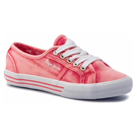 Tenisówki PEPE JEANS - Baker Canvas PGS30381 Coral 179