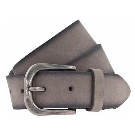 MUSTANG Pasek '35mm' ciemnoszary / srebrny