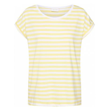 VILA Koszulka 'Dreamers' żółty / biały