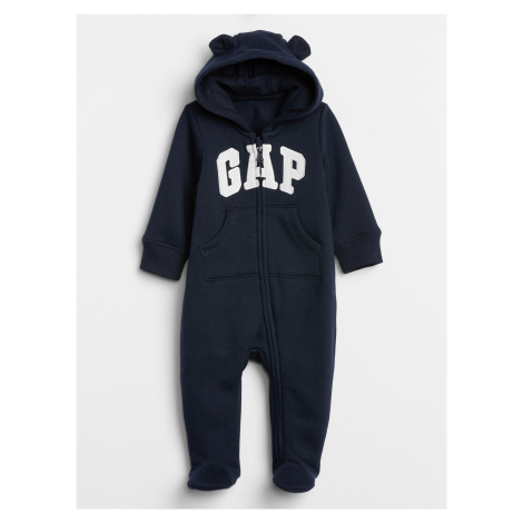 GAP niebieski baby kombinezon s logem
