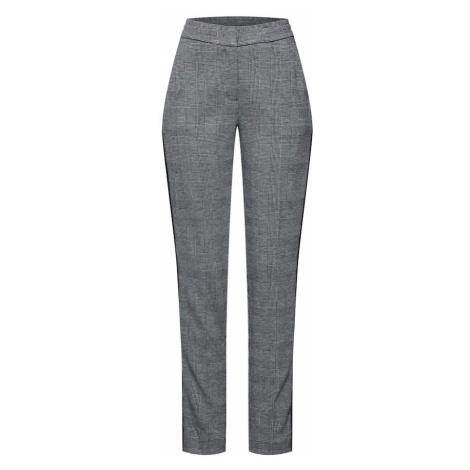 MORE & MORE Spodnie w kant srebrno-szary / czarny